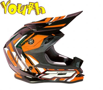 Progrip 3009 YOUTH Helmet Flo Orange Black